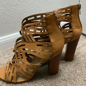 Caramel colored heels
